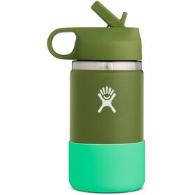 Hydro Flask Wide Mouth Straw Lid Flaske Børn, grøn/turkis